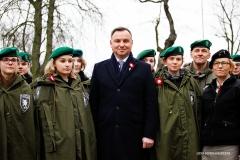 Prezydent Polski Andrzej Duda z harcerzami / Lidia Mukhamadeeva /REPORTER
