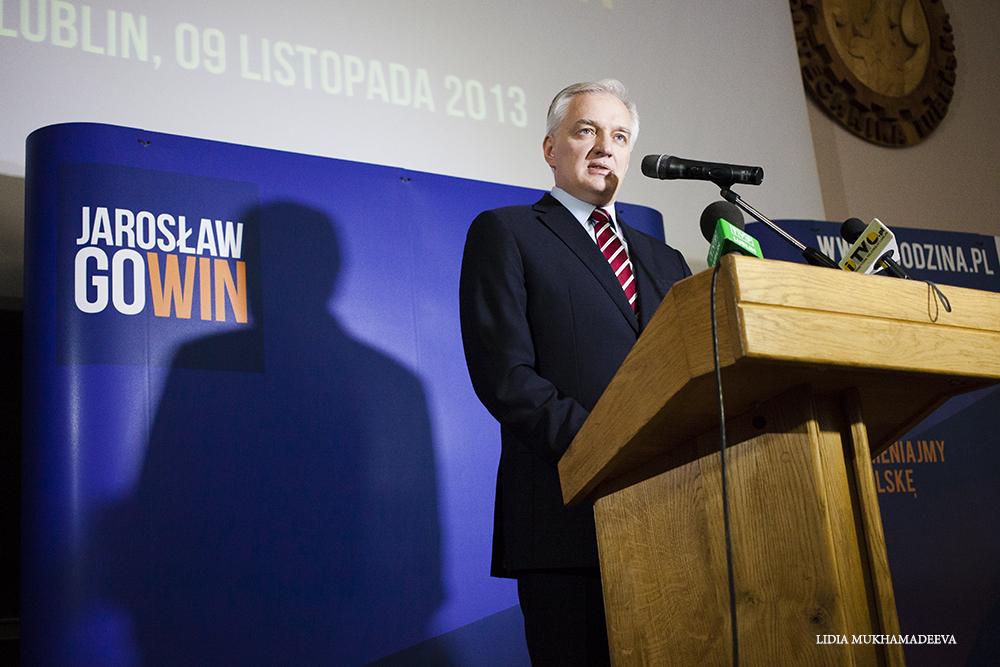 Jarosław Gowin podczas wizyty w Lublinie / Lidia Mukhamadeeva
