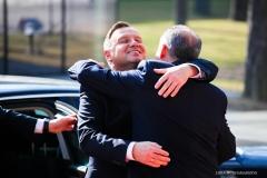 Prezydent Polski Andrzej Duda i prezydent Słowacji Andrej Kiska