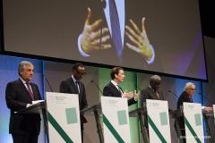 Sebastian Kurz, kanclerz Austrii w centrum podczas przemuwienia na Forum / Lidia Mukhamadeeva