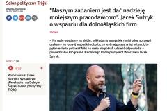 Publikacja w PolskieRadio.pl. Wywiad z Prezydentem Wrocławia Jackiem Sutrykiem