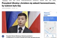 Foto prezydenta Ukrainy Wolodymyra Zieleńskiego. Publikacja w Radio Zet. Fot. Lidia Mukhamadeeva / REPORTER