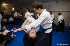 Trening Aikido w klubie Aikikai.